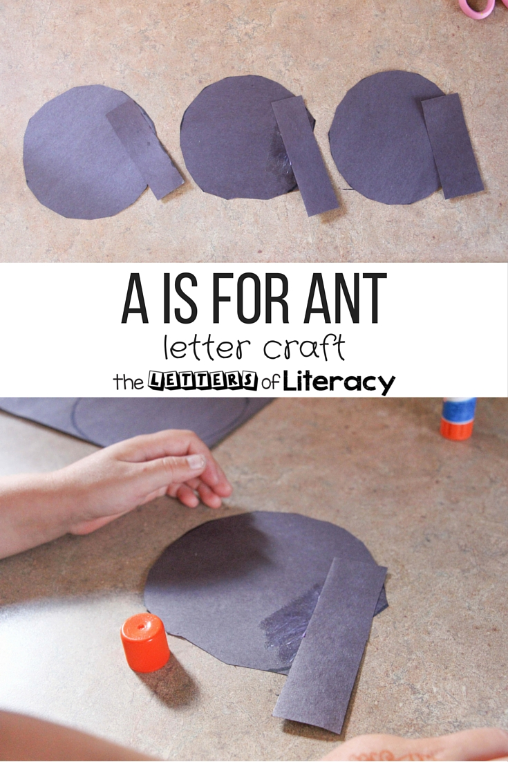 This a is for ant letter craft is great for building up letter formation and fine motor skills! Perfect for preschoolers and kindergarteners.