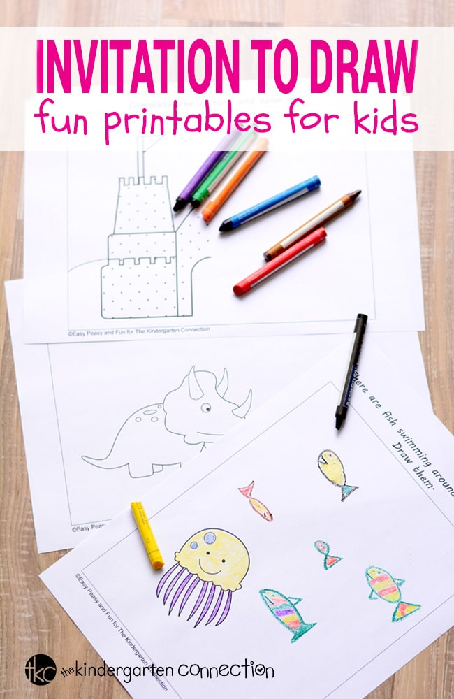 Fun Drawing Printables for Kids - The Kindergarten Connection