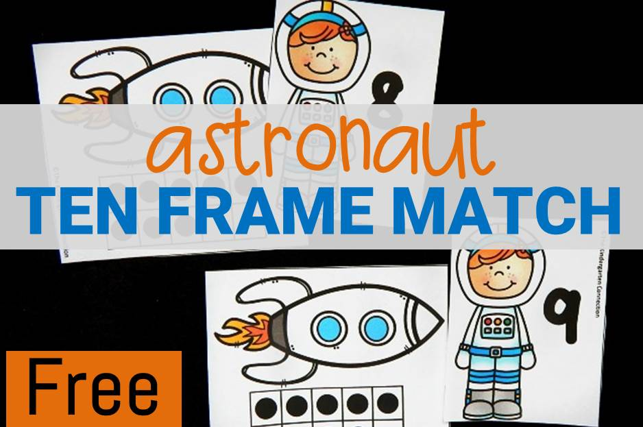 Astronaut Ten Frame Matching Game