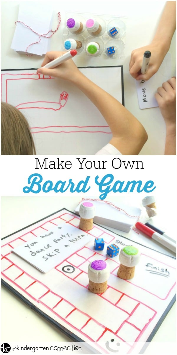 Make Your Own Board Game The Kindergarten Connection