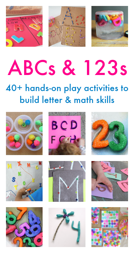 Tons of hands on and FUN alphabet and number activities!