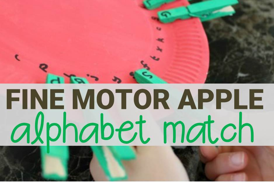 fine motor apple alphabet match main image