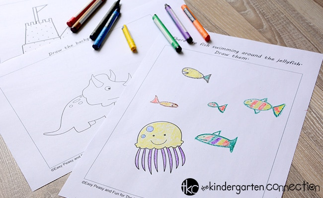 These drawing printables for kids are so much fun! A great way to peak interest and curiosity to get kids creating and interested in drawing.