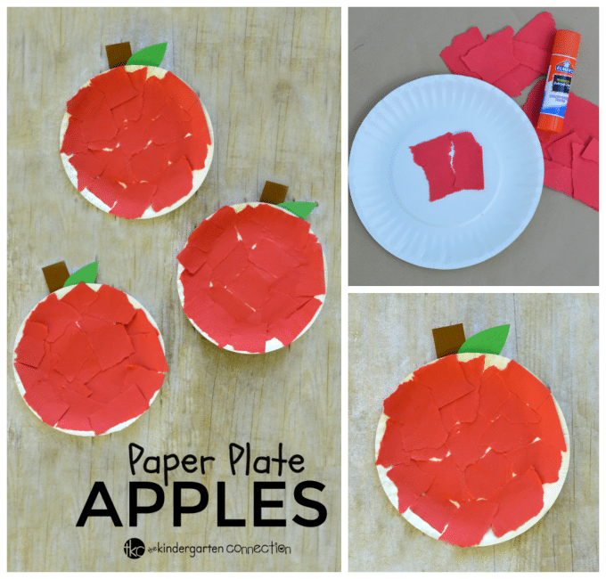 Paper Plate Apple Craft The Kindergarten Connection