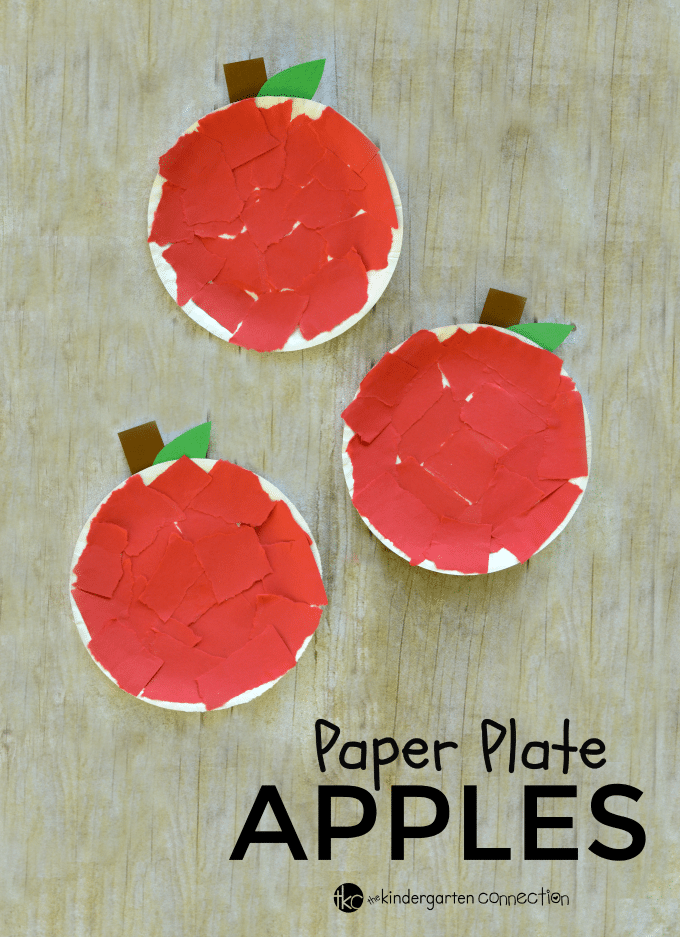 Paper Plate Apple Craft & Paper Plate Apple Craft - The Kindergarten Connection