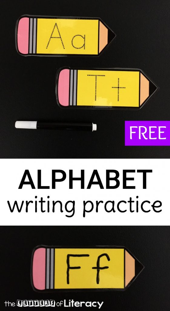Letter formation is so much fun with these alphabet writing pencils! They are great for preschoolers and kindergarteners who are working on the alphabet.