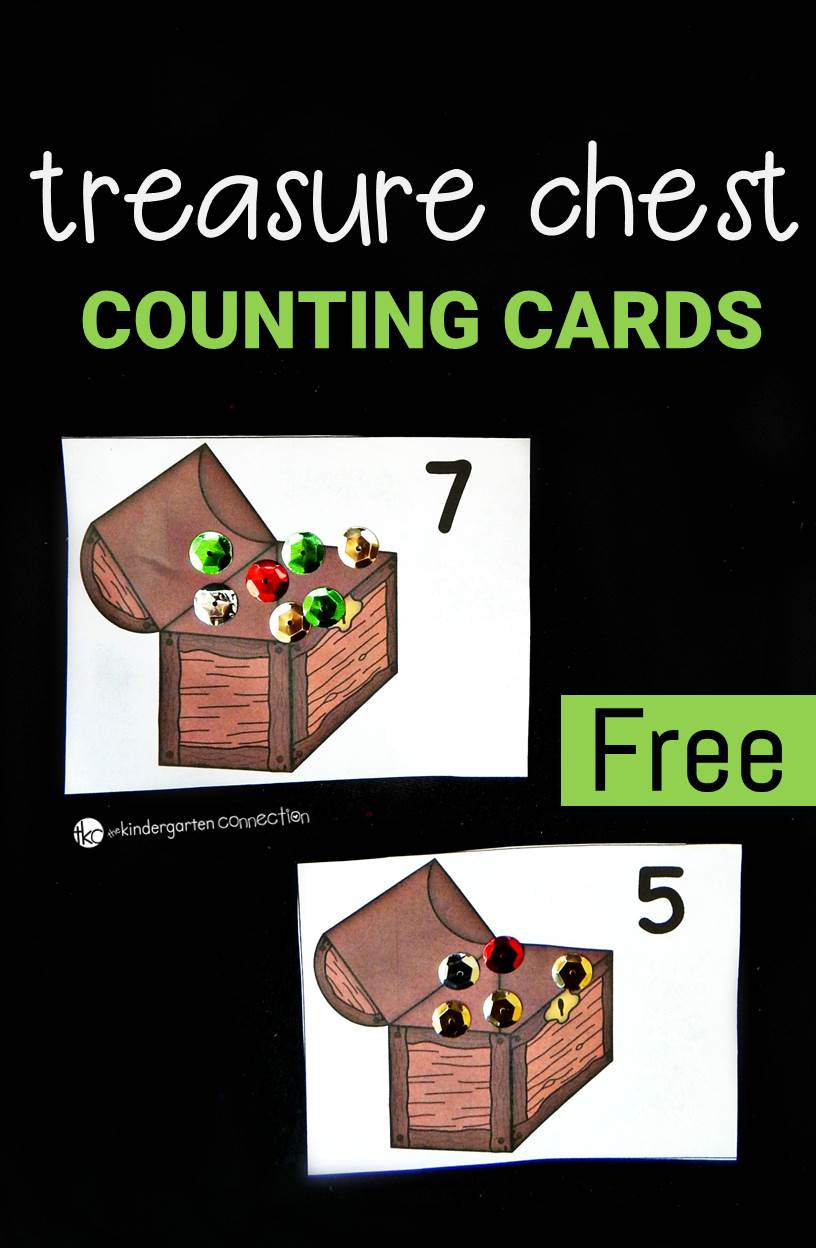 Work on one to one correspondence and numbers to 12 with these fun treasure chest counting cards. They are great for building fine motor as well!