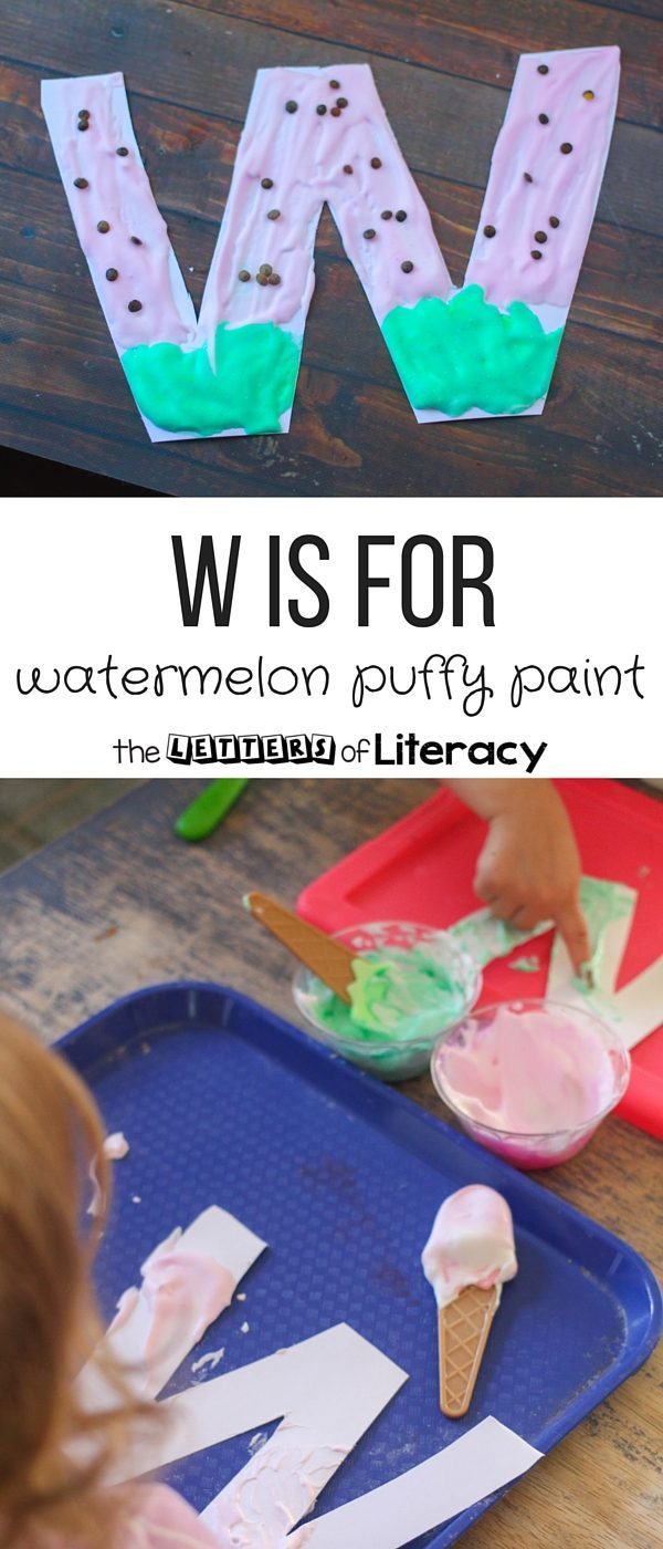 Watermelon Puffy Paint Literacy Craft