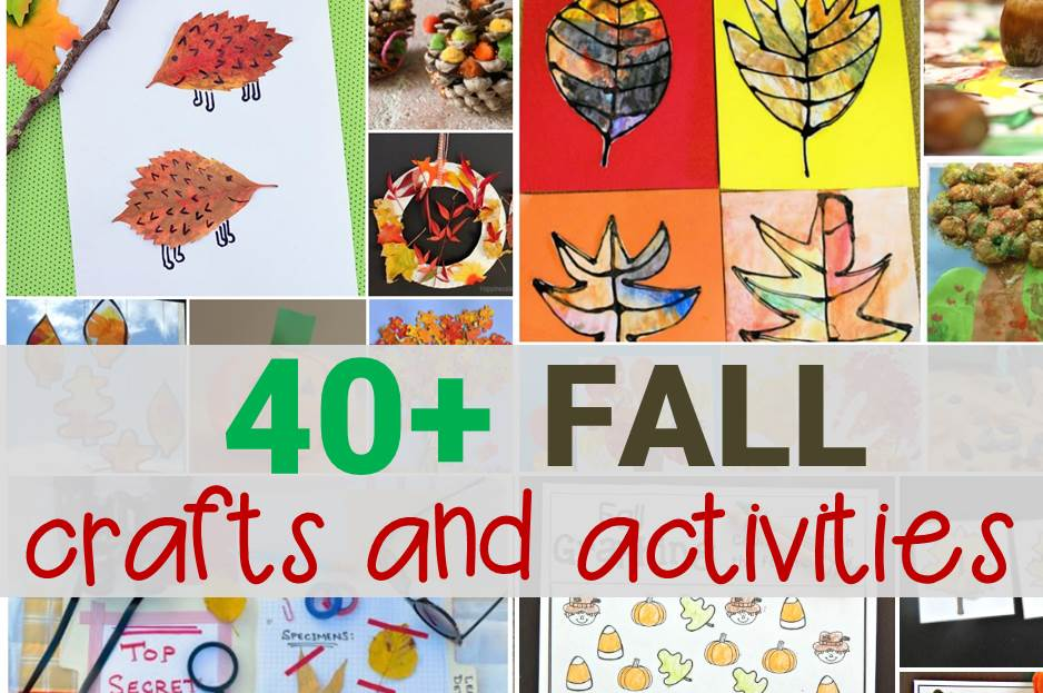 40+ fall crafts and activities main image