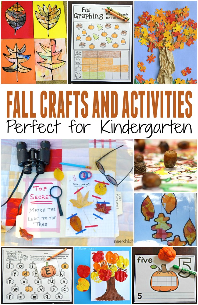 Tons of fun fall crafts and activities for kids! Printables, fall art projects, and more to add to your classroom lesson plans or try at home!