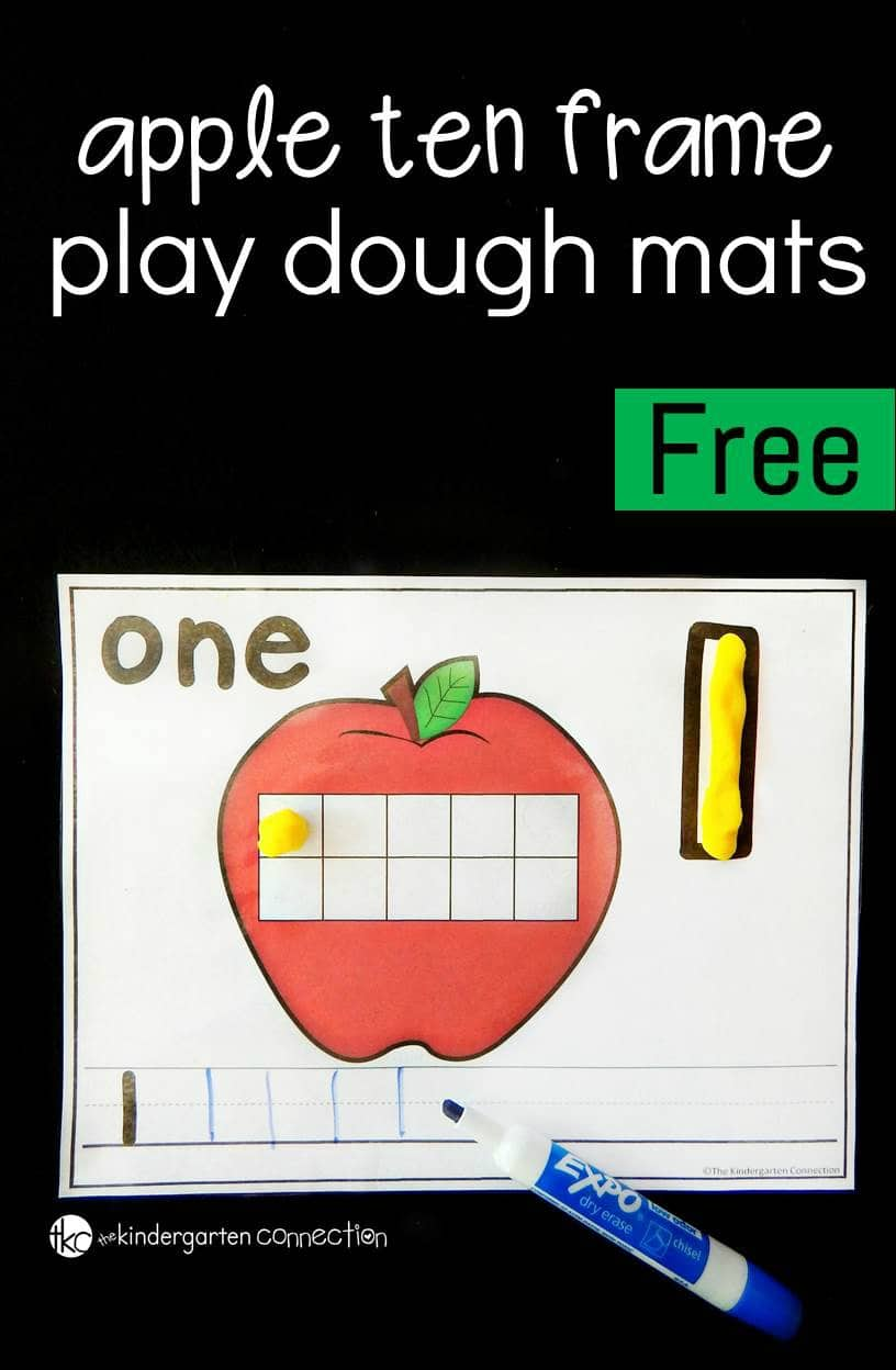 These apple number mats are perfect to add to your math centers this fall with preschoolers and kindergarteners! Count, write and build numbers to 10.