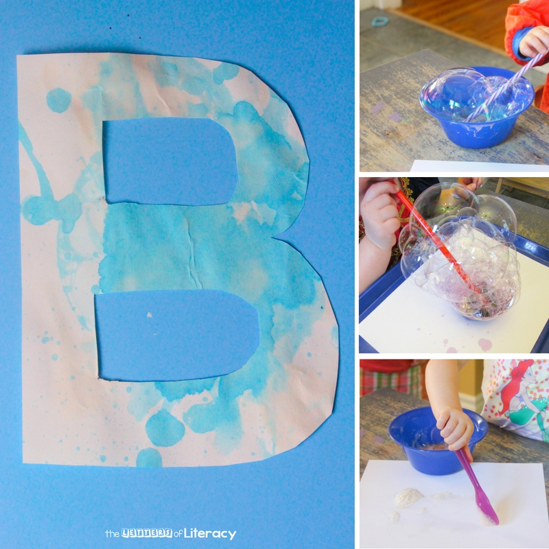 Learning letters and sounds is even more fun with hands on crafts. This bubble themed letter b craft is perfect for preschoolers and kindergarteners.
