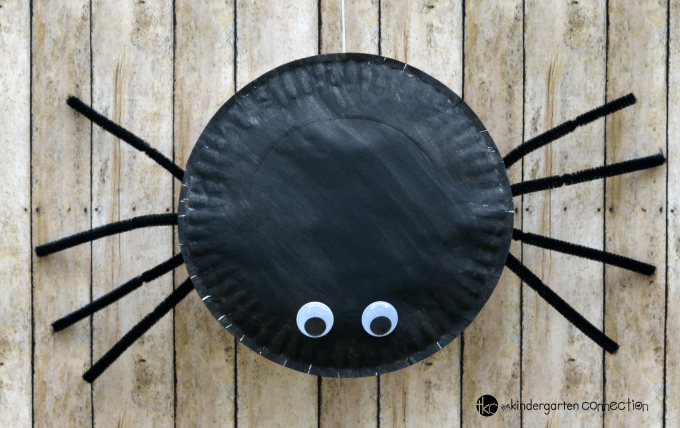 Paper Plate Spider & Paper Plate Spider Craft - The Kindergarten Connection