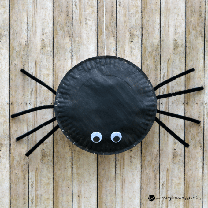 This paper plate spider craft for kids is fun, easy to make, and is a great Halloween decoration for your classroom or home.
