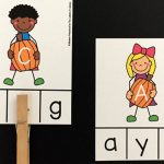 Pumpkin Friends Letter Matching Clip Cards