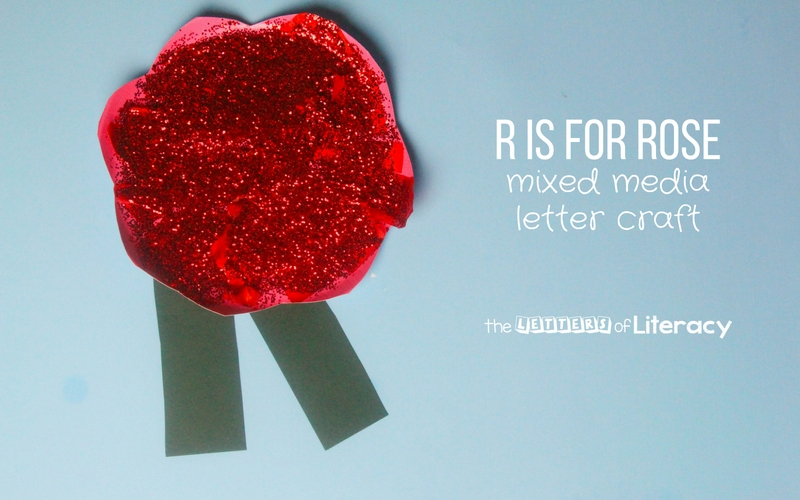 This Letter R Craft rose is perfect for hands on exploration and art when teaching the alphabet, letter formation, and letters sounds.