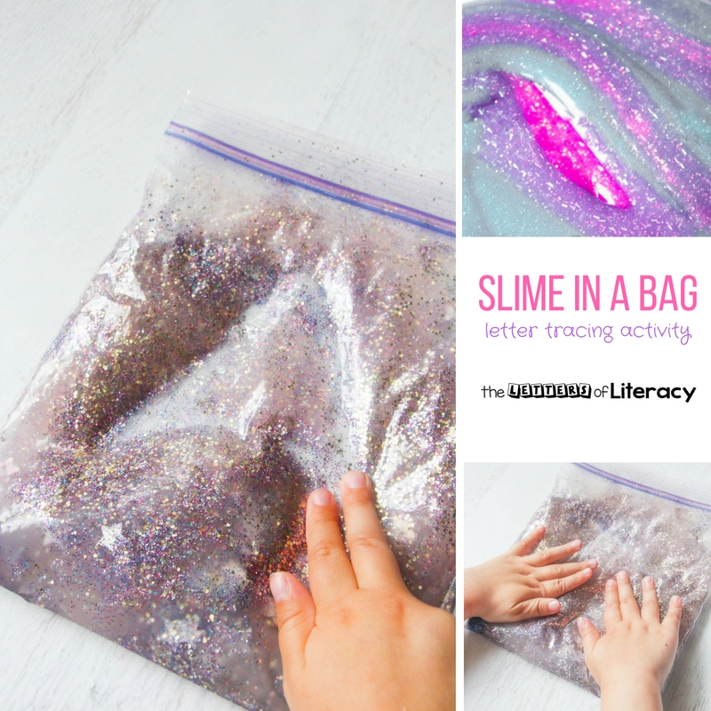 This slime in a bag letter tracing activity is so much sensory fun for preschoolers and kindergarteners who are learning their alphabet!