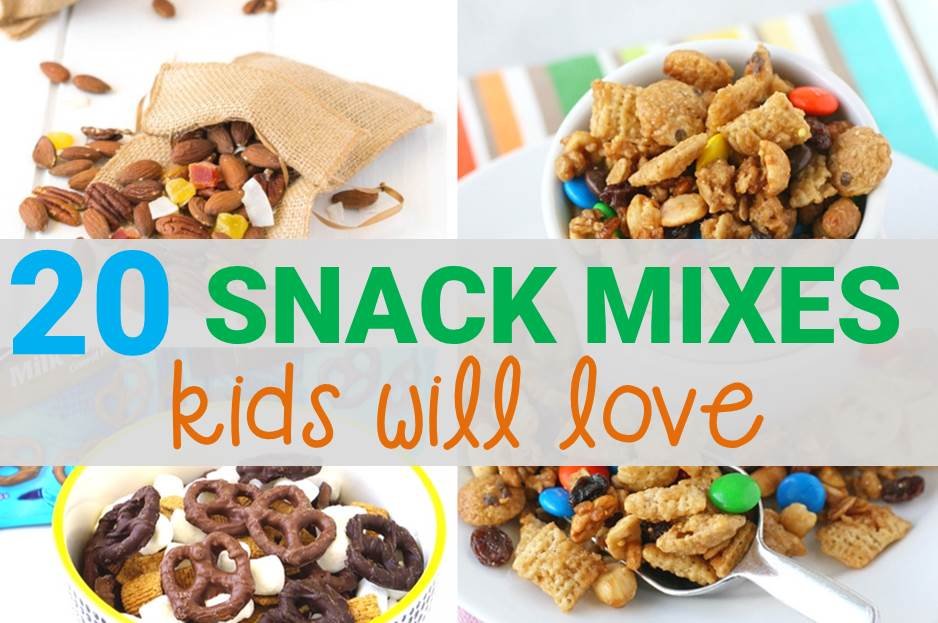 20 Snack Mixes Kids Will Love