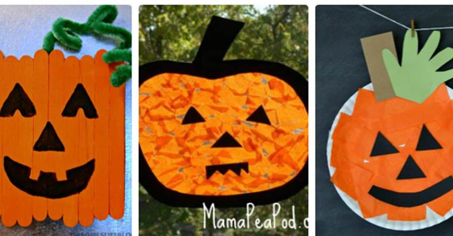This is a graphic of Bright Pumpkin Craft for Toddlers