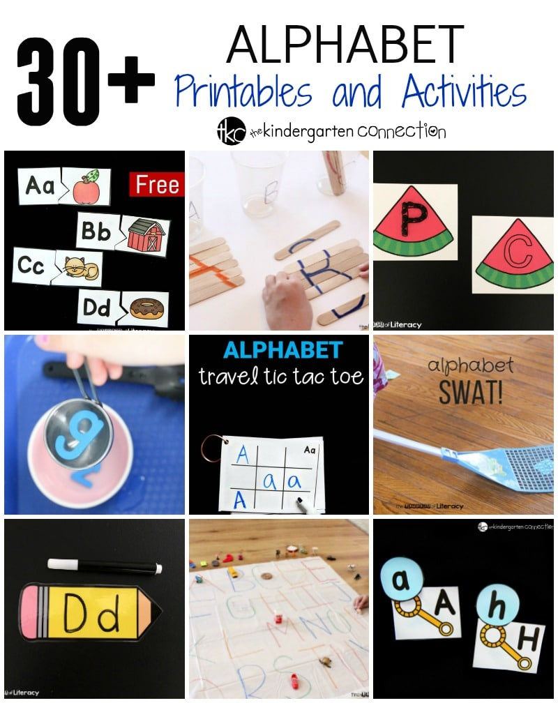 Over 30 free alphabet printables and activities!