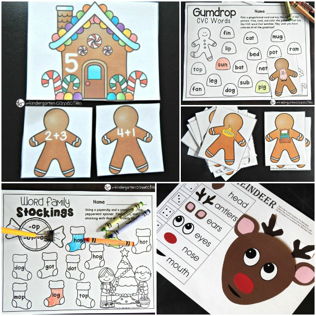 Christmas Learning Printables for Kindergarten