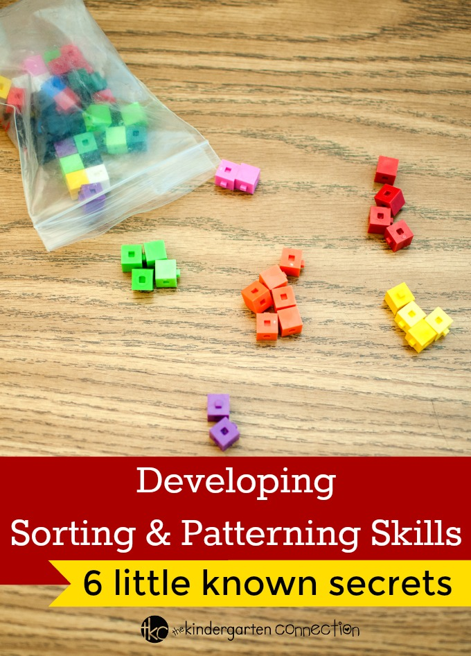 Sorting and patterning skills are important in early childhood. How can teachers and parents help develop sorting and patterning skills in kids?