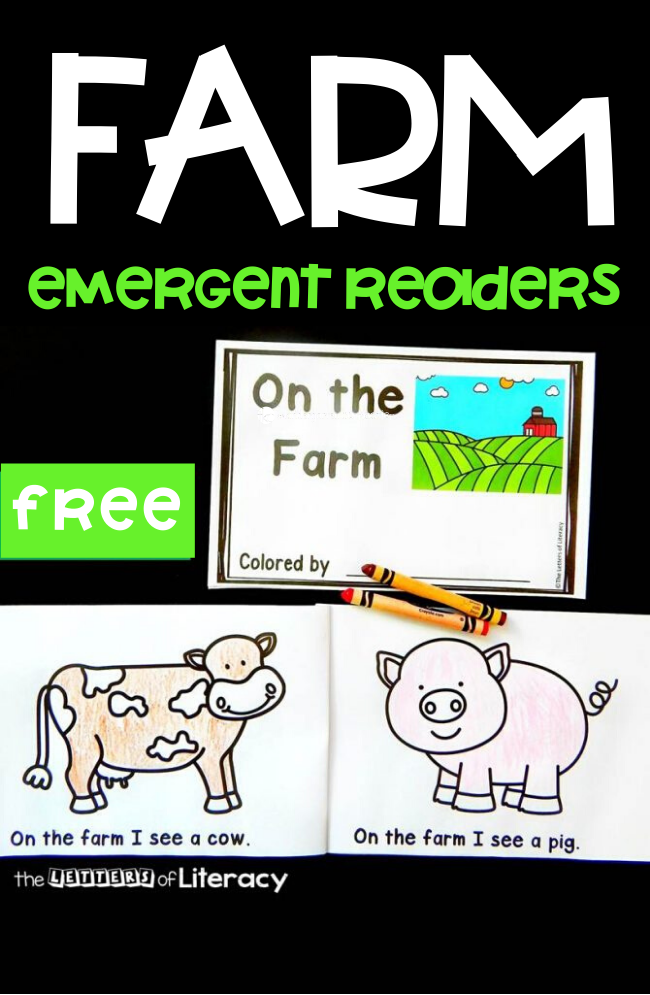 If you are learning about farms and farm animals, this farm emergent reader for kids is the perfect addition to your plans! #farrm #emergentreaders #learningtoread #readingactivities