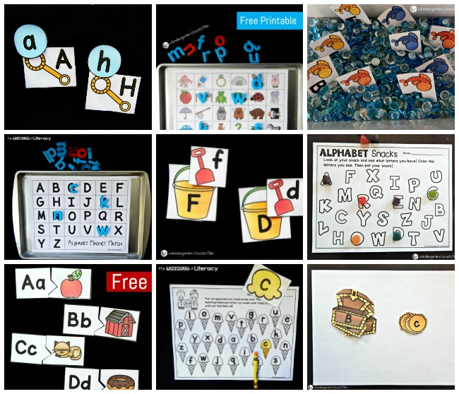 photo regarding Letter Sound Games Printable referred to as 30+ Alphabet Printables and Things to do - The Kindergarten