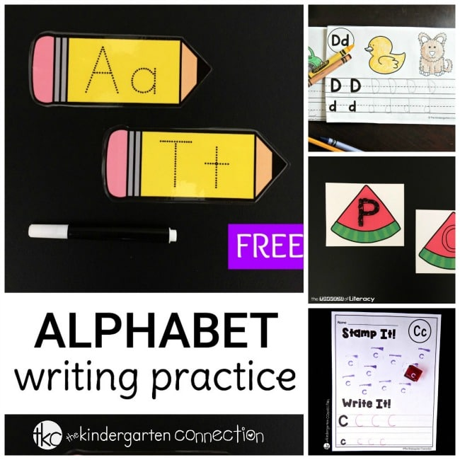 More than 30 awesome fun and free alphabet printables for kids! These printables and hands on activities are great for preschool and kindergarten.