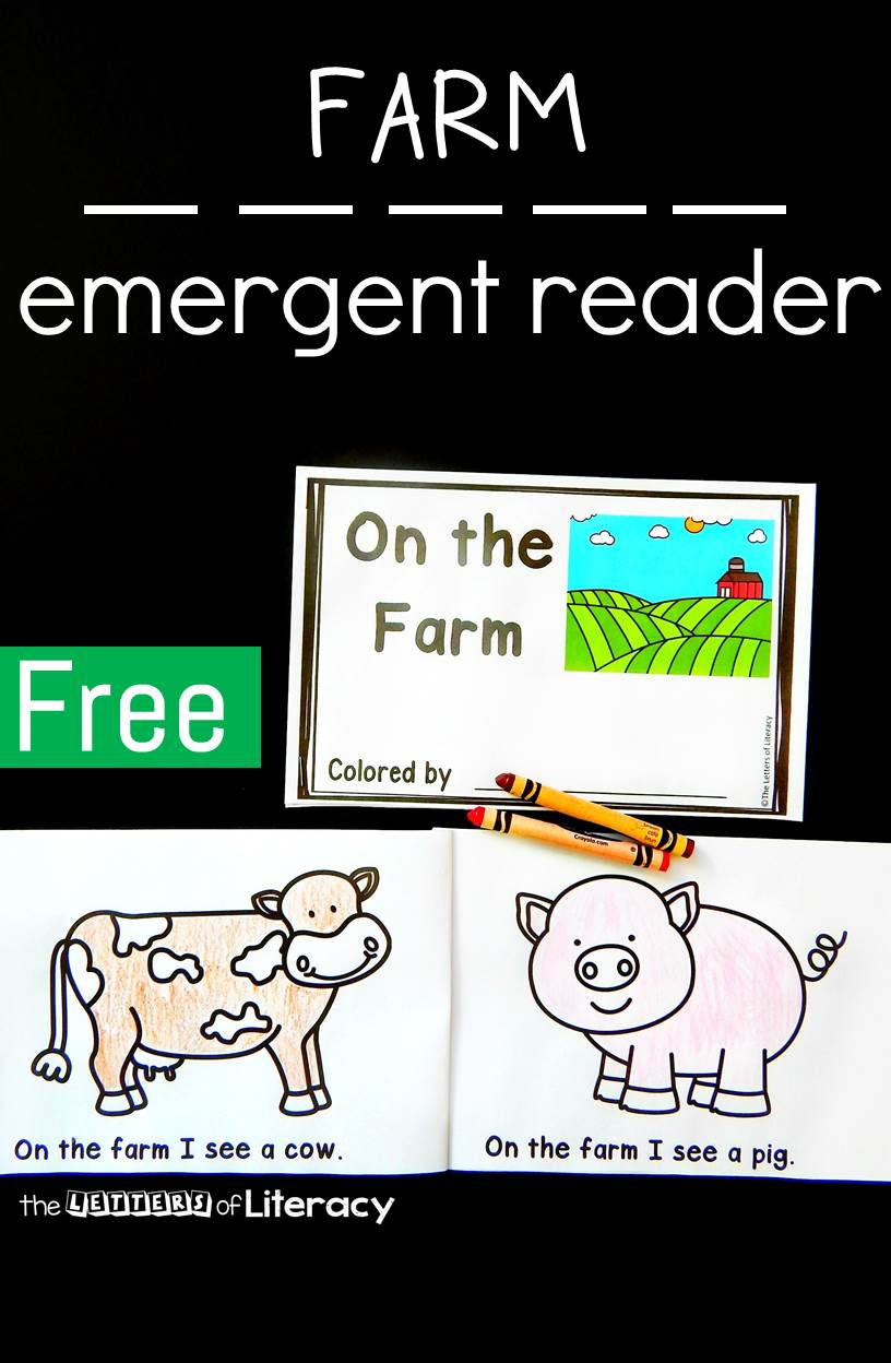 If you are learning about farms and farm animals, this farm emergent reader for kids is the perfect addition to your plans!