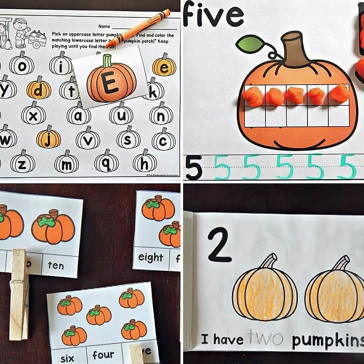 The pumpkin printable activities will have your students excited to learn!