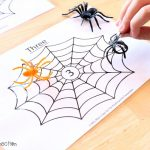 Spider Web Counting Game, numbers 1-20 Free printable