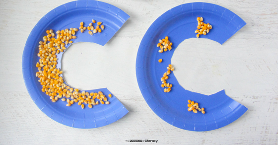 This c is for corn letter c craft is perfect for kindergarteners and preschoolers who are learning their letters and sounds!