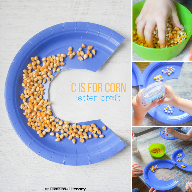 Letter C Craft - C Is For Corn