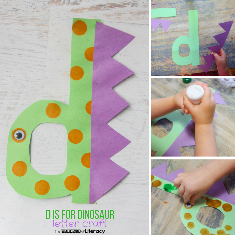 Letter D Craft D Is For Dinosaur The Kindergarten Connection