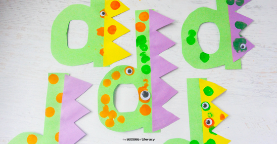 This d is for dinosaur project is a great letter d craft for preschoolers and kindergarteners who are learning their letters and sounds!