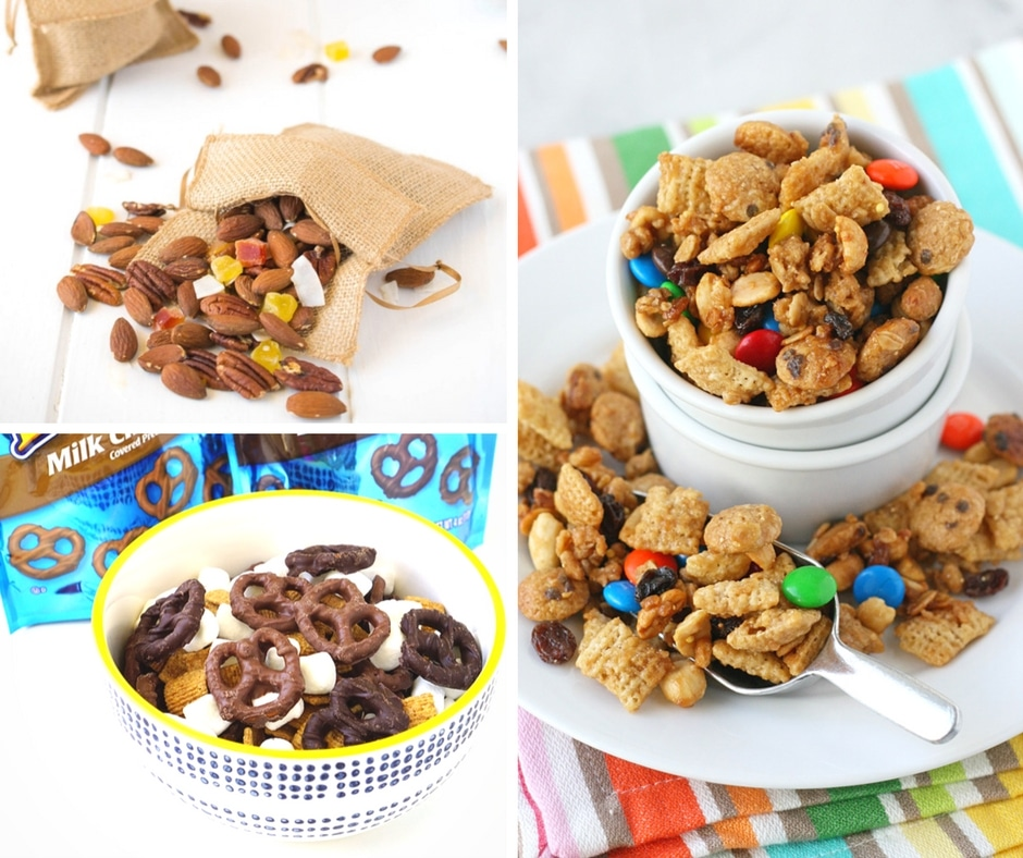 These snack mixes for kids are perfect for lunches, class parties, or after school snacks and are sure to be a hit with both kids and adults!