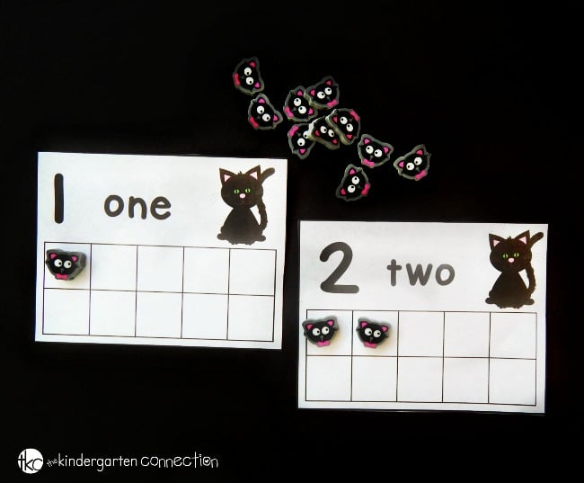 Halloween Counting Cards - The Kindergarten Connection