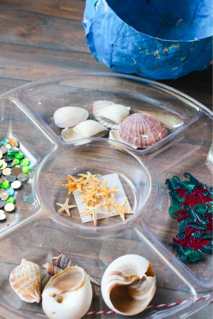Mermaid paper mache bowls sensory craft for kids today were returning back to basics with one of my girls favorite crafts jeuxipadfo Images