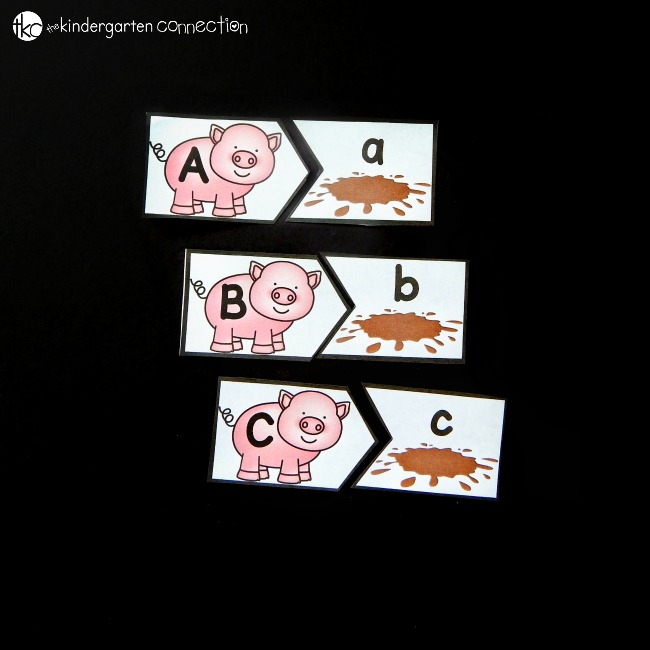 Learning the letters of the alphabet is even more fun with this pigs in the mud alphabet match game! Match the pigs to their mud puddles by letter.
