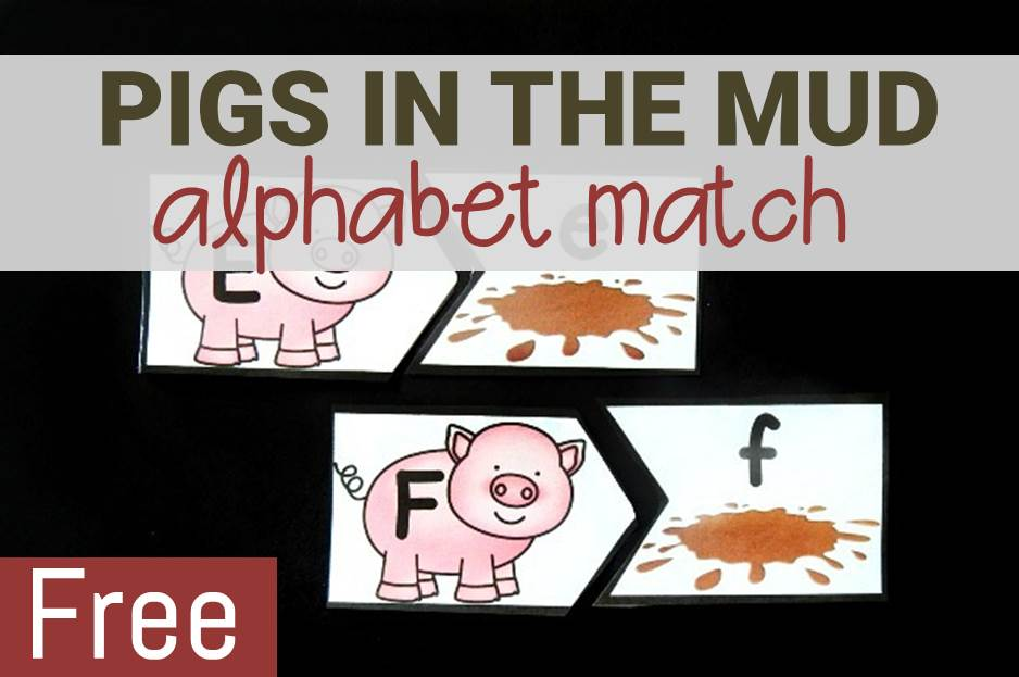 Pigs in the Mud Alphabet Match