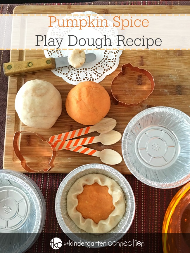 This pumpkin spice play dough is quick and easy to make, and is perfect for dramatic play and sensory exploration this fall in the classroom or home!