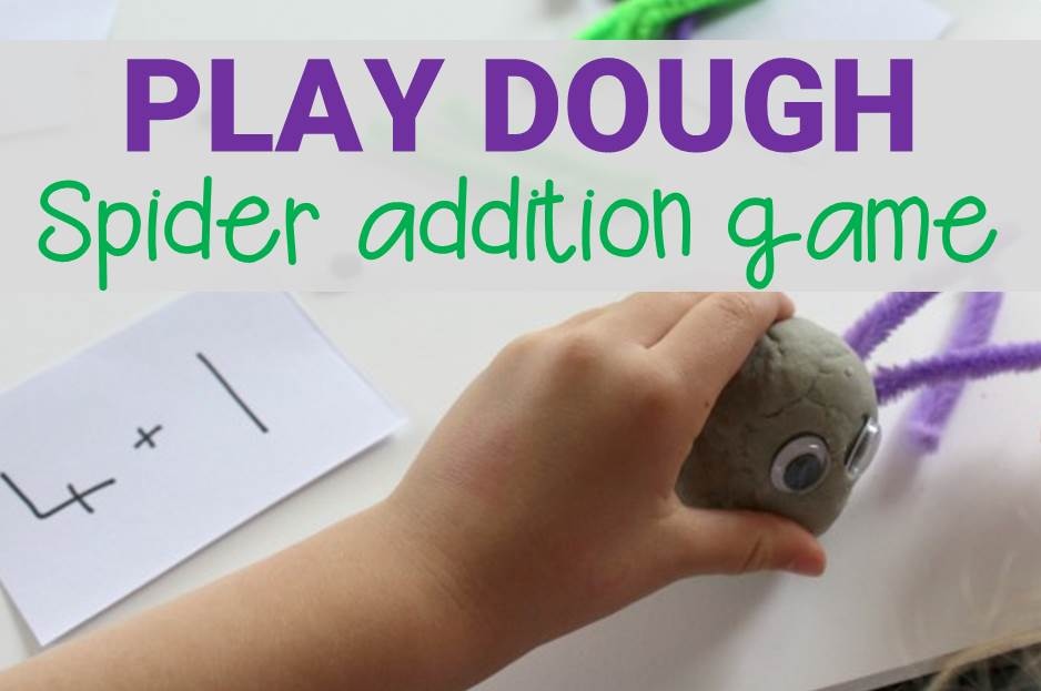 Play Dough Spider Addition Game