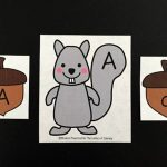 Squirrel and Acorn Alphabet Match