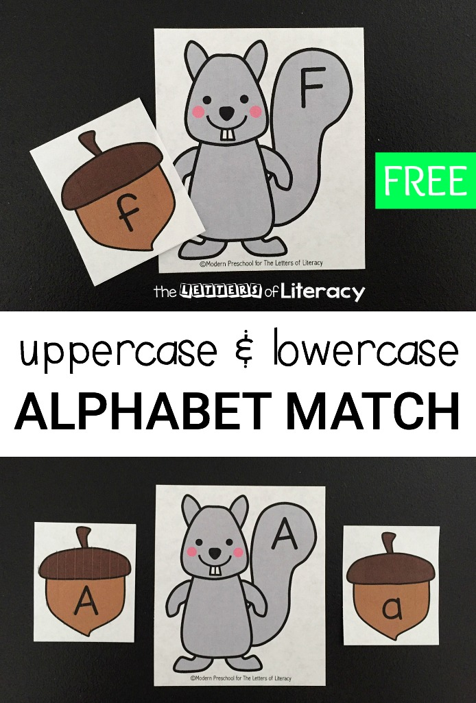 Squirrel and Acorn Alphabet Match Activity