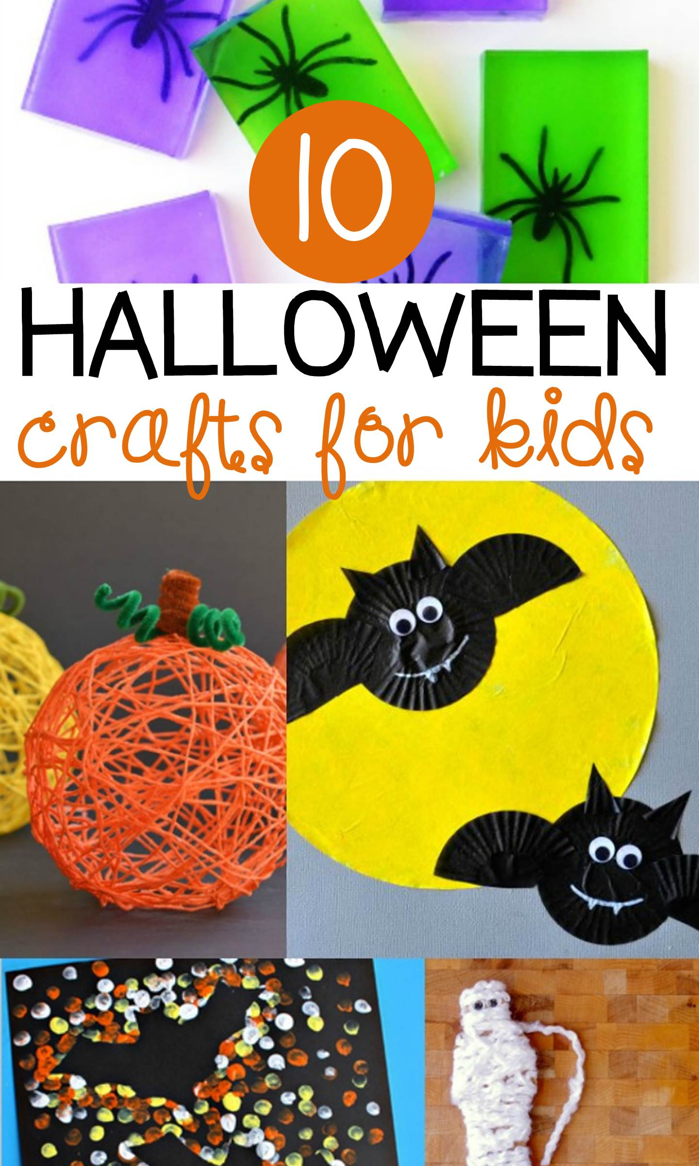 These Halloween crafts for kids are fun and not so spooky! Perfect for kids to create in October at home or in the classroom.