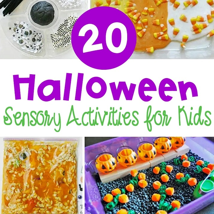 These Halloween sensory activities offer tons of options for sensory play.