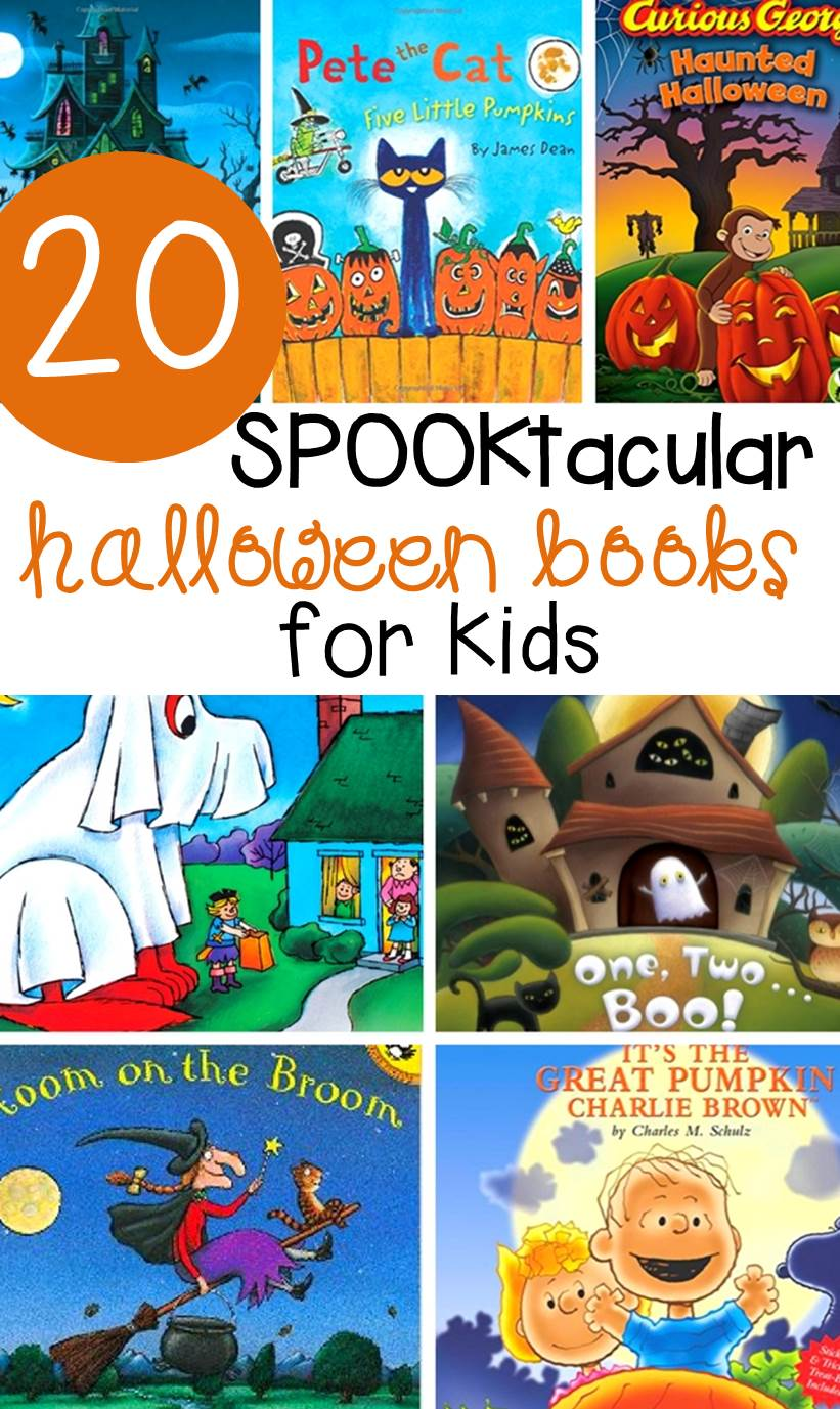"These 20 ""spooktacular"" Halloween books for kids are fun and engaging read alouds for the classroom or home in the month of October!"