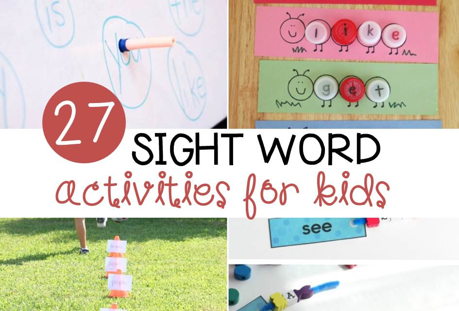 Awesome sight word activities for kids!