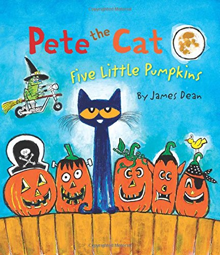Practice counting with Pete in Pete the Cat Five Little Pumpkins.